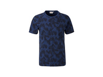 Jerseyshirt mit Blatt-Print - T-Shirt