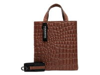 Handtasche aus Leder mit Krokodilprägung - Kroko Paper Bag Tote S