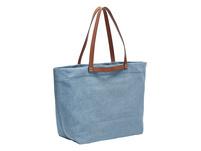 Jeans Shopper mit Glattleder-Details - Gray Denim Aurora Shopper L