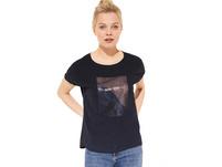 Layer-Shirt mit Chiffon-Front - T-Shirt