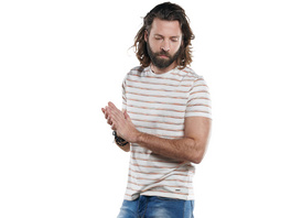 Rundhals T-Shirt mit besonderem Farbeffekt