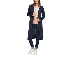 Lange Strickjacke mit Schlitzen - Long-Cardigan