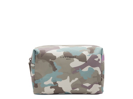 Kosmetiktasche aus recyceltem Nylon mit Camouflageprint - Eco Aware Cosmetic Pouch M