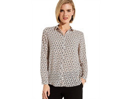 Businessbluse mit dekorativem Op-Art Muster - Musterbluse