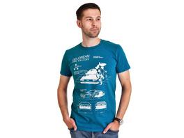 Zurück in die Zukunft - Delorean T-Shirt blau