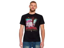 Deadpool - Unicorn Ride T-Shirt schwarz