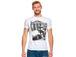 Zurück in die Zukunft - Einstein mit DeLorean T-Shirt weiß