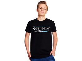 Not Today T-Shirt für Game of Thrones Fans schwarz