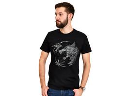 Wolf Emblem T-Shirt für Witcher Fans schwarz