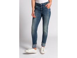 Gina Laura 7/8-Jeans Julia, Ziernähte, Umschlagsaum, 5-Pocket
