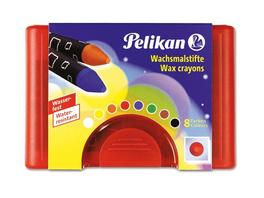 Pelikan 723148 - Wachsmalstifte Wasserfest 8er